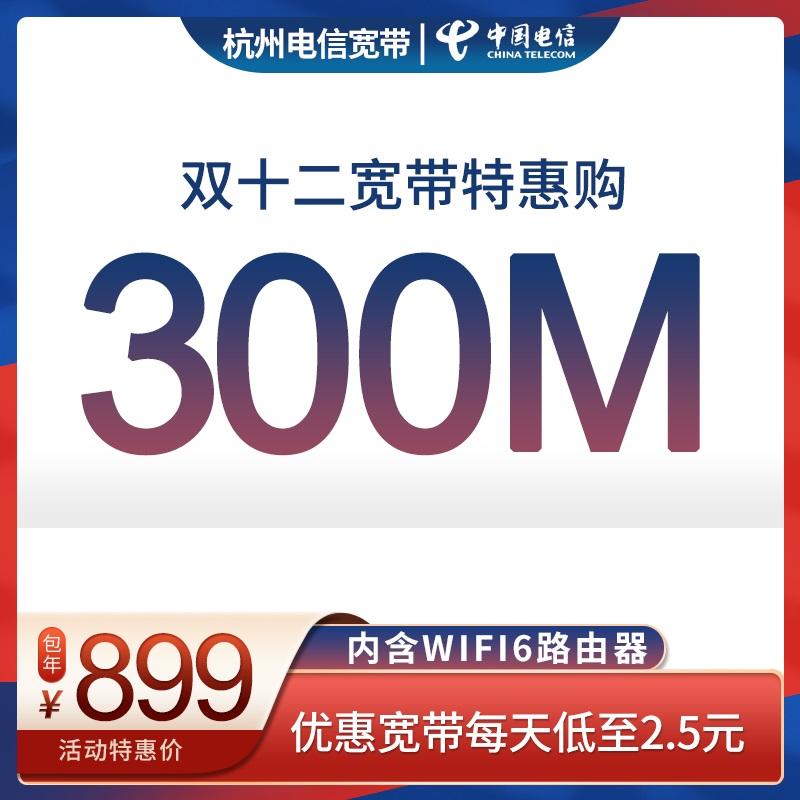 【双11特惠】300M单宽带包年899元,每天仅需2.5元